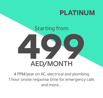 Platinum starting from 499 AED/month