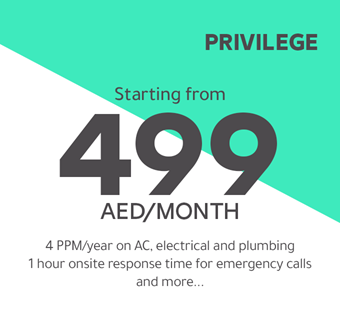 Privilege starting from 499 AED/month
